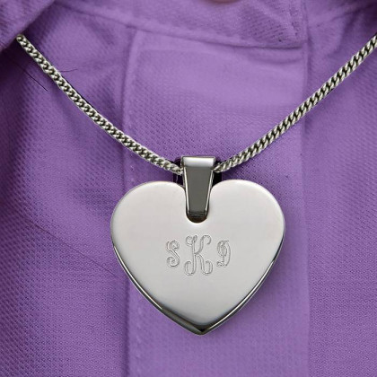Personalized Heart Shaped Pendant & Necklace