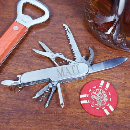Personalized Stainless Steel Multi-Tool Pocket Knife