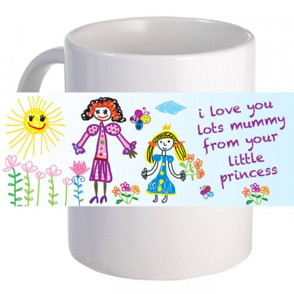 "Personalized ""Love Mummy Lots"" 11oz Coffee Mug"