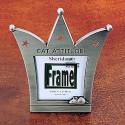 Cat Attitude Feline Crown Photo Frame