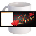 Personalized Lovely Heart Coffee Mug With Custom Printed Image, Text