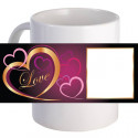 "Personalized ""Gold Love Frame"" Coffee Mug With Custom Printed Image"