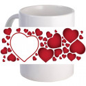 "Personalized ""Love Crazy"" Lovely Coffee Mug With Custom Printed Image"