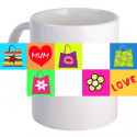 "Personalized ""Mum, Love"" 11oz Coffee Mug"