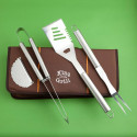 A King of the Grill Stainless Steel BBQ Grilling Set With Durable Case