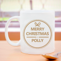 Merry Christmas Mug Perfect Personalized With Name, Initial  Printed