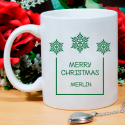 Wonderful Merry Christmas Mug Beautiful Personalized With Name Printed