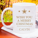 Wish You A Merry Christmas Mug Beautiful Personalized With Name