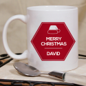 Merry Christmas Mug  Beautiful Personalized With Name Printed On it