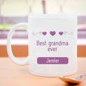 Best Grandma Ever! Heartfelt Personalized 11 oz Mug