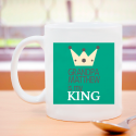Grandpa Is My King, Colorful Contrasted Personalized 11 oz Mug