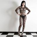 Sexy Bow Tie Black Lace Body Stocking Crotchless Bodystocking