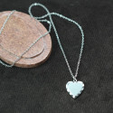 Personalized Heart Pewter Pendant
