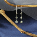 14K Solid Gold Lever Back Diamonds Earrings Beautiful Gift For Women