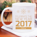 Celebrate the New Year 2018 Beautiful Personalized 11 oz Mug