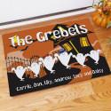 Halloween Ghost Family Welcome Doormat