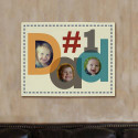 Number One Dad Photo Canvas