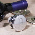 Initial Silver Wine Stopper