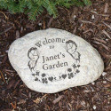 Engraved Butterfly Garden Welcome Stone