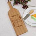Engraved Wine Bottle Cutting Board