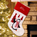 Penquin and trees Christmas Stocking