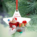 Star Christmas Ornament Personalized with Custom Image Photo