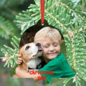 Christmas Bell Ornament Personalized with Custom Image Photo Picture