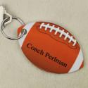 Personalized Custom Football Shaped Key Tag Keychain