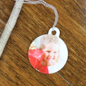 Personalized Custom Round Pet Tag with Image/Photo