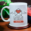 I Love Us So Much Lovely Mug Perfect Valentine Day Gift For Him Or Her