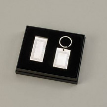 Greek Key Money Clip & Key Chain Gift Set with Custom Name/Image