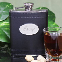 Personalized Black Stainless Steel Flask