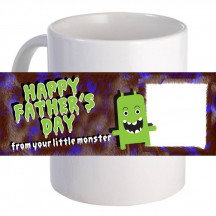 """Personalized """"From Your Little Monster"""" 11oz Coffee Mug"""