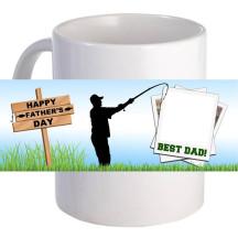 "Personalized ""Fishing Father's Day"" 11oz Coffee Mug"