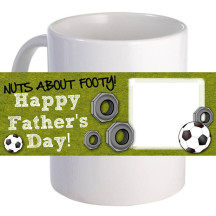 """Personalized """"Nuts About Footy""""  11oz Coffee Mug"""
