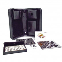 Multi Game Set with Black Leather Case