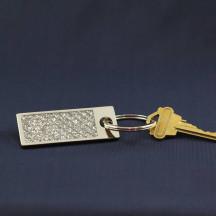 Personalized Glitter Galore Rectangle Key Chain