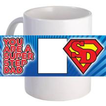 "Personalized ""Super Step Dad""  11oz Coffee Mug"
