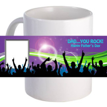 "Personalized ""Dad... You Rock!""  11oz Coffee Mug"