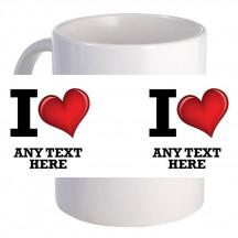"""""""I Heart"""" 11oz Coffee Mug"""