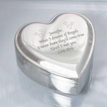 Personalized Nickel Heart Jewelry Box