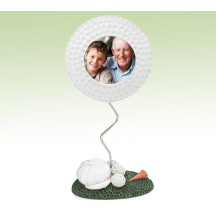 Golf Themed Photo Frame With White Golf Cap Fanatic Gift For Golf Fans