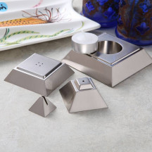 4 in 1 Silver Tabletop Pyramid