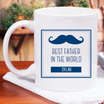 Best Father in the World Personalized 11 oz Mug