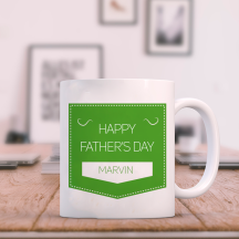 Happy Father's Day Mug Personalized With Name Printed  On It