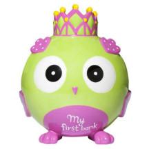 Princess Owl Ceramic Bank