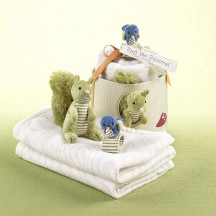 """Woodland """"Earl the Squirrel"""" and Forest Friends Baby Gift Set"""
