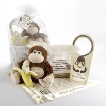 Little Monkeys 5 Piece Beautiful Gift Set in Keepsake Basket