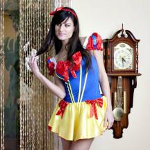 Sexy Snow White Fairy Tale Princess Costume Big Back Bow