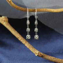 Solid Gold Lever Back Diamonds Earrings